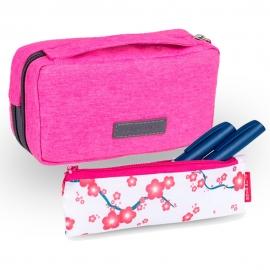 Lot de 2 pochettes pour diabétiques   Rose   Diabetic's + Insulin's   Elite Bags