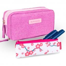Lot de 2 pochettes pour diabétiques   Violet   Diabetic's + Insulin's   Elite Bags