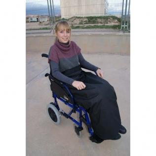 Couverture thermique imperméable et thermorégulable | Pour fauteuil roulant | 90 x 105 cm