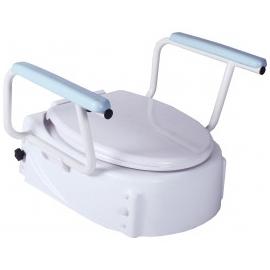 Rehausseur pour toilettes   3 niveaux   Accoudoirs repliables   Jusqu'à 100kg
