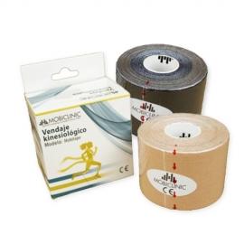 Pack de 2 Kinesiotape   Noir et beige   Bandage Neuromusculaire   5mx5cm   Mobitape   Mobiclinic