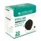 20 Masques Adultes FFP2 Noirs   0,64€/ pièce   Sans graphène   5 couches   Sans valve   Marquage CE   Boîte de 20 pcs - Foto 6