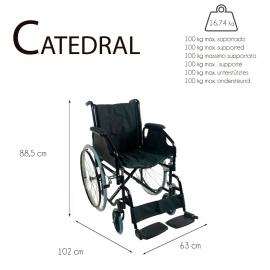 Fauteuil roulant pliable   Orthopédique   Acier   Catedral   Mobiclinic