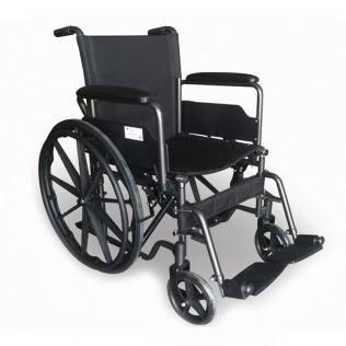 Carrozzina disabili | Sedia a rotelle pieghevole | Poggiapiedi e braccioli estraibili | Acciaio | S220 Sevilla | Mobiclinic
