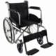 Sedia a rotelle pieghevole | Carrozzina disabili | Acciaio | Nero | Alcazaba | Mobiclinic - Foto 1