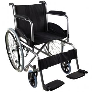 Sedia a rotelle pieghevole | Carrozzina disabili | Acciaio | Nero | Alcazaba | Mobiclinic