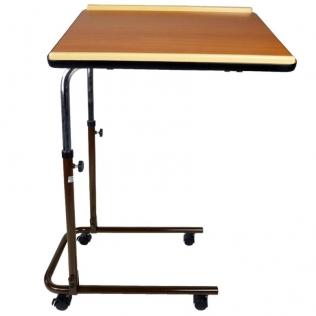 Tavolino da letto | Tavolo con ruote | Tavolo regolabile in altezza | Legno | Sierra | Mobiclinic
