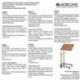 Tavolino da letto | Tavolo con ruote | Tavolo regolabile in altezza | Legno | Sierra | Mobiclinic - Foto 7