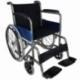 Sedia a rotelle pieghevole   Carrozzina disabili   Acciaio   Nero   Alcázar   Mobiclinic - Foto 1