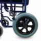 Sedia a rotelle VIP | Pieghevole | Braccioli e poggiapiedi estraibili | Acciaio | Blu | Maestranza | Mobiclinic - Foto 6