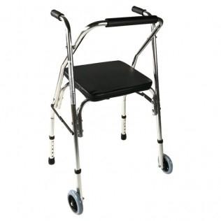 Deambulatore   Per anziani   Alluminio   Pieghevole   2 ruote   Compostela   Mobiclinic