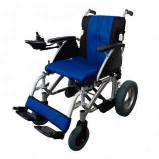 Carrozzina elettrica   Sedia a rotelle elettrica   Pieghevole   Blu e nera   Alluminio   Lyra   Mobiclinic