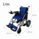 Carrozzina elettrica   Sedia a rotelle elettrica   Pieghevole   Blu e nera   Alluminio   Lyra   Mobiclinic - Foto 7