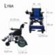 Carrozzina elettrica   Sedia a rotelle elettrica   Pieghevole   Blu e nera   Alluminio   Lyra   Mobiclinic - Foto 8