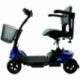 Scooter elettrico 4 ruote per adulti | Compatto e smontabile | Autonomia 10 km | 12V | Blu | Virgo | Mobiclinic - Foto 1