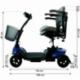 Scooter elettrico 4 ruote per adulti | Compatto e smontabile | Autonomia 10 km | 12V | Blu | Virgo | Mobiclinic - Foto 11