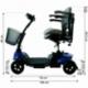 Scooter elettrico 4 ruote per adulti | Compatto e smontabile | Autonomia 10 km | 12V | Blu | Virgo | Mobiclinic - Foto 15