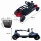 Scooter elettrico 4 ruote per adulti | Compatto e smontabile | Autonomia 10 km | 12V | Blu | Virgo | Mobiclinic - Foto 18