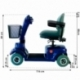 Scooter elettrico a 4 ruote per disabili | Sedile girevole e pieghevole | Autonomia 34 km | 12V | Blu | Piscis | Mobiclinic - Foto 11