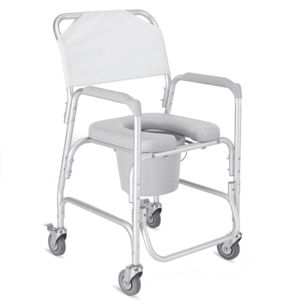 Comoda WC con ruote | Sedia wc | Seduta, schienale e