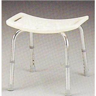 Sgabello per doccia | Sgabello bagno | Sedile per doccia | Regolabile | Con fori | Maniglie incorporate | Bianco