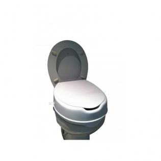 Rialzo per wc | Alzawater | Con coperchio | 10 cm | Comodo | Pratico