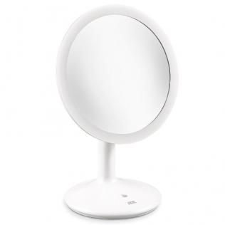 Specchio Bagno Con Lampada.Specchio Bagno Con Luce Led Da Trucco Base Antiscivolo Bianco