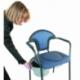 Sedia wc | Con braccioli | Coperchio | Toilette da camera | Blu - Foto 2