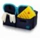 Astuccio isotermico con retina per trasporto di campioni | Estrazione di campioni | Blu e celeste | ROW'S - Foto 3