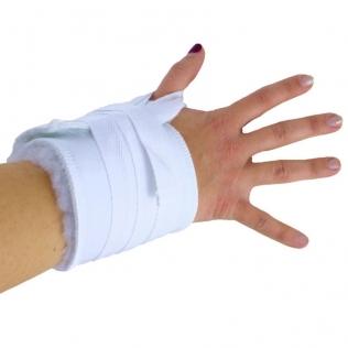 Polsiera antidecubito   Fascia tracolla antidecubito   Tracolla e velcro   Cotone   Bianco