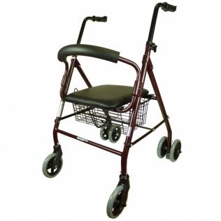 Deambulatore per anziani | Paterna | Alluminio | Pieghevole | Freno a pressione | Clinicalfy