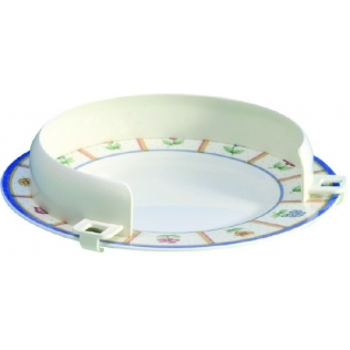 Bordo per piatto   Ausili per mangiare   Ausili cucina   Bambini e disabili   Plastica   Bianco   Mobiclinic