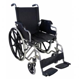 Sedia a rotelle PREMIUM   Carrozzina disabili   Braccioli e pedane sollevabili   Acciaio   Nero   Giralda   Mobiclinic