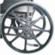 Sedia a rotelle PREMIUM   Carrozzina disabili   Braccioli e pedane sollevabili   Acciaio   Nero   Giralda   Mobiclinic - Foto 11