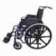Sedia a rotelle pieghevole | PREMIUM | Carrozzina | Acciaio | Nera e Blu | Giralda | Mobiclinic - Foto 3