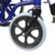 Sedia a rotelle pieghevole | PREMIUM | Carrozzina | Acciaio | Nera e Blu | Giralda | Mobiclinic - Foto 8