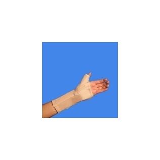 Polsiera abduzione del pollice con stecca palmare   Fascia elastica con stecca palmare   Chiusura in velcro