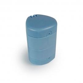 Portapillole | Taglia pastiglie | Tritapastiglie | 3 in 1 | Blu | Mobiclinic