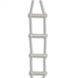 Scaletta per sollevarsi dal letto | Accessori letto | Scaletta in corda | Bianca | Mobiclinic