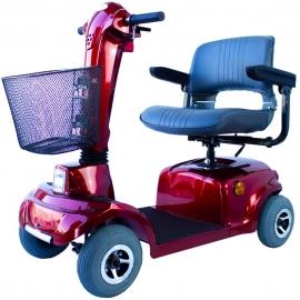 Scooter elettrico per disabili | Auton. 34 km | Sedile girevole e piegabile | 12V | Bordò | Piscis | Mobiclinic