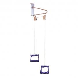 Supporto in metallo per riabilitazione   Riabilitazione spalla, braccio, polso   Fissaggio alla porta   Leggero   Mobiclinic