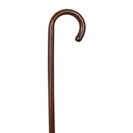 Bastone in legno di faggio | Impugnatura arrotondata | Colore: marrone