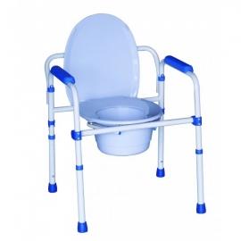 Comoda per anziani | 3 in 1 | Sedia da bagno in acciaio | Pieghevole