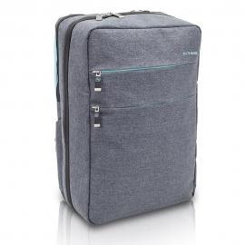 Zaino emergenza | Borsa medico | Modello CITY'S | 40 x 28 x 14 cm | Grigio - azzurro | Design pratico e moderno | Elite Bags