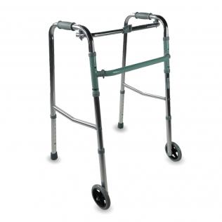 Girello anziani | Piegabile | Alluminio | Grigio | 2 ruote | Capitel | Mobiclinic