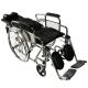 Sedia a rotelle | Pieghevole | Schienale e poggiapiedi reclinabili | Acciaio | Nero | Obelisco | Mobiclinic - Foto 2