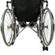 Sedia a rotelle | Pieghevole | Schienale e poggiapiedi reclinabili | Acciaio | Nero | Obelisco | Mobiclinic - Foto 3
