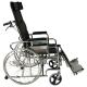 Sedia a rotelle pieghevole | Schienale reclinabile| Ortopedico | Poggiagambe e poggiatesta | Obelisco | Mobiclinic - Foto 4