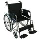 Sedia a rotelle TOP | Braccioli fissi | Poggiapiedi removibili | Freni a mano | Alluminio | Nero | Palacio | Mobiclinic - Foto 1