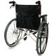 Sedia a rotelle TOP | Braccioli fissi | Poggiapiedi removibili | Freni a mano | Alluminio | Nero | Palacio | Mobiclinic - Foto 2